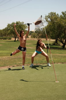 Jo And Sandra Shine In Topless Golfing - Picture 5
