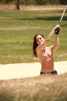 Jo And Sandra Shine In Topless Golfing - Picture 9