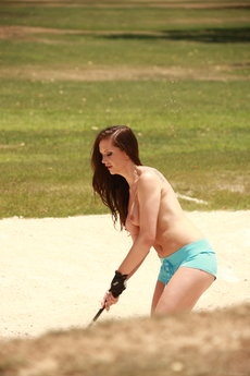 Jo And Sandra Shine In Topless Golfing - Picture 10